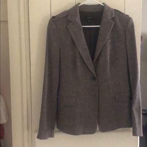 Ann Taylor blazer brown/grey two button